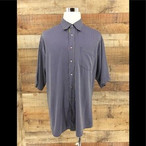 Bugatchi Uomo Men's Striped Button Up Shirt XXL